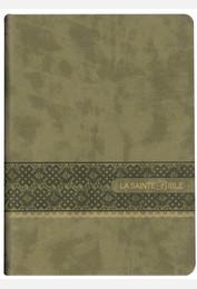 Bible Segond 1910 gros caractères marron tranches or