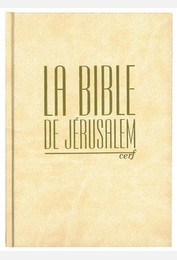 Bible de Jérusalem compacte reliée blanche tranches or