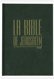 Bible de Jérusalem compacte reliée verte