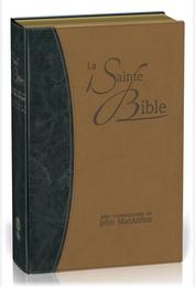 Segond NEG 1979 Bible avec commentaires de MacArthur souple