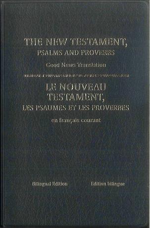 Nouveau Testament, Psaumes et Proverbes, anglais / français
